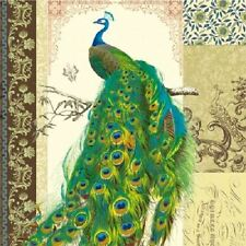 4 x Paper Napkins - Peacock - Ideal for Decoupage / Napkin Art