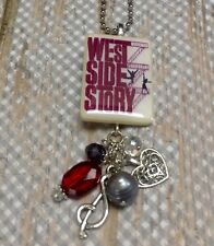 West Side Story Broadway Musical Necklace HANDMADE Librarian Teacher Gift
