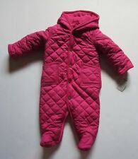 NWT Ralph Lauren Pink Snowsuit Quilted Fleece Lined Bunting Girls 6 Months $115