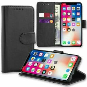 Leather Flip Book Wallet Case Folio Cover For iPhone 12 11 XR 7 8 SE2020