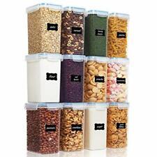 Vtopmart Airtight Food Storage Containers 12 Pieces 1.8qt /2L- Plastic Pba, Blue