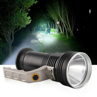 LED Flashlight Candle Power Work Spot Light Camping Hand Lamp Rechargeable Torch