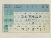 KISS 1997 Concert Ticket Stub Reunion Tour West Virginia