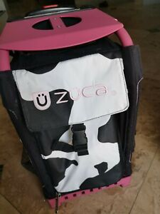 Zuca Rolling Ice Skate Bag-Frame and Bag.  Light up Wheels Pre-Owned Condition