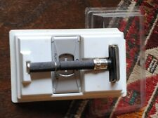 VINTAGE GILLETTE H-4 BLACK DIAMOND KNURLING HANDLE SA PD 1987 ORIGINAL BOX