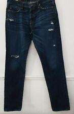 Abercrombie & Fitch para Hombre Jeans Denim azul envejecido Talla W33 L32