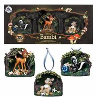 Disney Store BAMBI 75th Anniversary Ornament Set of 3 Limited Edition 300