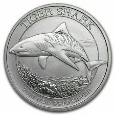 2016 - 1/2-OZ PURE 999 SILVER - AUSTRALIAN - TIGER  SHARK - $9.99 -BID- SCARCE !