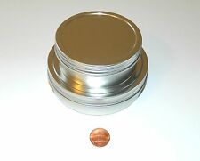 4 oz & 8 oz Round Shallow Survival Tin Containers With Screw Top Lids Craft Use