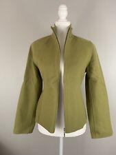 alexandra bartlett sweater Womens Olive Green 100% Wool Zip Down Size Medium M