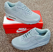 NIKE AIR MAX 90 ESSENTIAL TRIPLE GREY WOLF GREY MENS TRAINERS SHOES UK SIZES