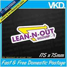 Lean-N-Out Sticker/Decal - Sizzurp LSD VINYL Funny Dope Weed 420 Parody XTC Acid