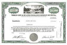 World Life and Health Insurance Company of Penna > 1966 WORLCO stock certificate