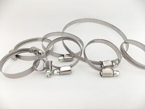Hose CLIPS PIPE CLAMPS 9mm width Stainless Steel W2 (Many sizes: 8~240mm)