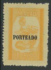 MACAO, MINT, #J50-2, OG LH,CS/3,  (1) SHOWN, EXCELLENT CENTERING