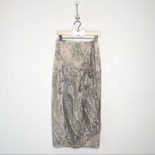 EMANUEL UNGARO Silk Wrap Maxi Skirt