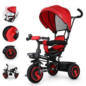 Kinderdreirad Kinderwagen Schieber Trike 7 in 1 Kinderbuggy Kinder Dreirad DHL