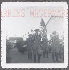 Vintage Photo Revolutionary Men Marching w/ New Drummer American Flag 761672
