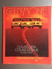 1987 Oldsmobile Cutlass Ciera, Supreme, Cruiser Showroom Advertising Brochure