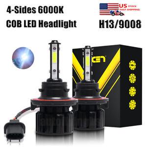 Pair H13 9008 2400W 360000LM  LED Headlight Bulb Kits High Low Beam 6000K White