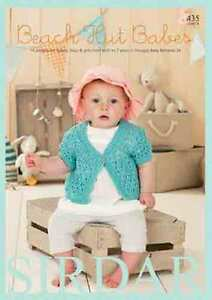 Sirdar Beach Hut Babes Book for Baby Bamboo 435  Patterns for  0-7yrs