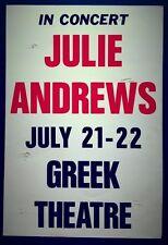 JULIE ANDREWS In Concert Original Promo Poster 1989 Broadway The Sound Of Music