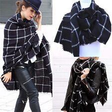 Women Warm Large Tartan Check Plaid Scarf Shawl Blanket Wraps Pashmina Stole
