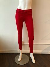 J Brand Waxed Super Skinny Jeans Pants Red Scarlet Size 26 Coated