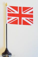 Red and White United Kingdom Union Jack Polyester Table Desk Flag