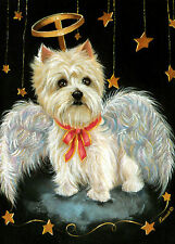 WESTIE ANGEL GARDEN FLAG  FREE SHIP USA RESCUE
