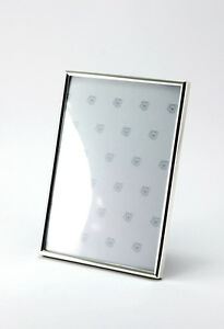 Picture Frame Silver Plated Rectangular Square Narrow Border Various Fotoformate