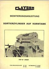 Montage Mähdrescher Clayson M 133 135 Zylinder Korntank