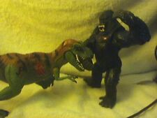 "KING KONG VS T-REX--BOTH ARE 6"" HIGH + NEW DINOSAUR BOOKLETS"