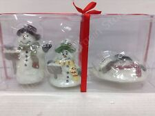 melting snowman candles set of 3 Christmas winter frosty holiday top hat scarf