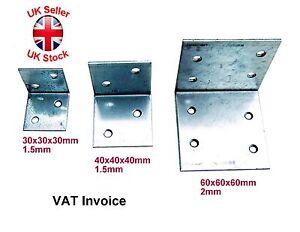 """Galvanised Corner Brace 90 Degree Angle Bracket Joist Timber Mending CE """"Small"""""""