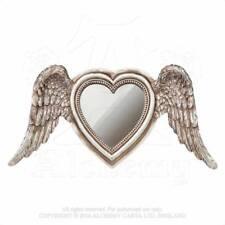 Alquimia - Alado Espejo Corazón - de Pie o Pared Montado