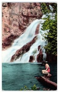 1941 Caribou Falls near Little Marais, MN Postcard