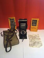 Kodak Six-20 Folding Brownie Camera, Vintage, with Original Instructions & Case.