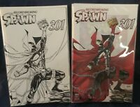 Spawn #301 - Todd McFarlane Color and Black White Variants