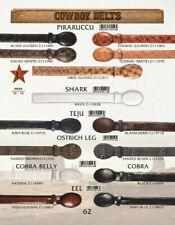 """Los Altos Men's Genuine Ostrich, Eel, Cobra, Shark Cowboy 1/2"""" Belts"""