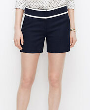 Ann Taylor - Regular & Petite Blue or White Tipped City Shorts $59.00 (S2)