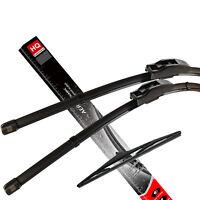 Front & Rear kit of genuine HQ Automotive Aero Flat Wiper Blades AD81-421 HQ14G