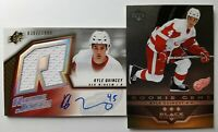 2005-06 Kyle Quincey Rookie Auto Autographed Jersey Card /1999 Red Wings 229 236