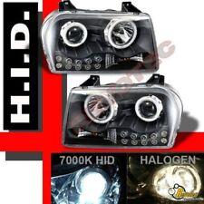 05 06 07 08 09 Chrysler 300 Dual Halo LED HID Projector Headlights Black 1 Pair