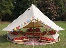 Imperméable Coton Canvas 4M Bell Tente avec tapis de sol zippé et veste de poêle