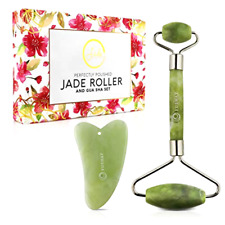 Jade Roller for face w/ Gua Sha for Slimming Anti Skin Wrinkles Massage Firming