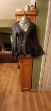 Womens Sparkly Black Fitted stretchy Quiz Top. Size 16 New with tags.