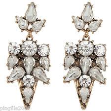 Hot New Design Lady Multi Crystal Bling Rainbow Drop/Dangle Earring 5.5cm E828
