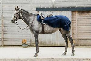 New Dark Horse Super  Soft Teddy Fleece Exercise Sheet Winter Riding Horse Black