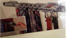 Closetmaid TIE & BELT RACK scarf ADJUSTABLE HOOKS Shelf Track ACCESORY TRAY  NEW